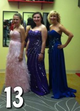 Teen Mom 3 Alex Sekella tries on a purple prom dress