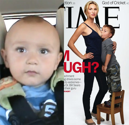 Time breast-feeding boy Aram was a viral video star