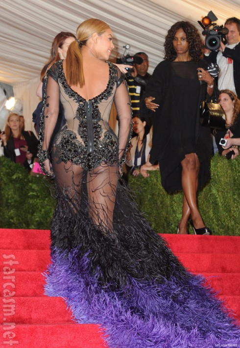 Beyonce 2012 Costume Institute Gala back view