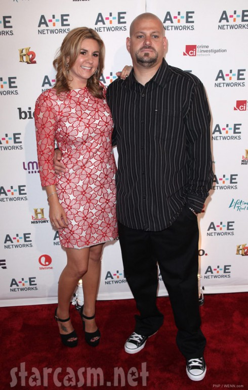 Brandi Passante and Jarrod Schultz at the A&E 2012 Upfront