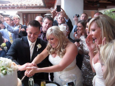 Vicki Gunvalson's daughter Briana Culberson cuts her wedding cake