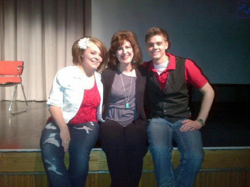 Teen Mom Catelynn Lowell and Tyler Baltierra with their adoption counselor Dawn Baker