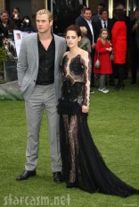 Chris Hemsworth and Kristen Stewart at the Snow White and the Huntsman World Premiere