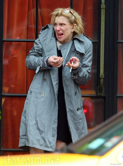 Hot mess Courtney Love without makeup