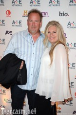 Darrell Sheets and Kimber Wuerfel at the A&E 2012 Upfront