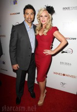 Eddie Judge Tamra Barney at the Wines By Wives launch event May 8 2012
