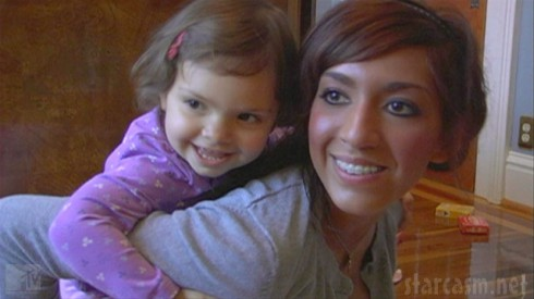 Farrah Abraham and daughter Sophia from Teen Mom Season 4 Episode 1
