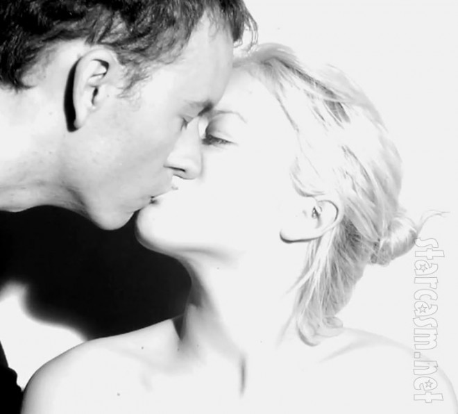 Francesca Eastwood kissing Tyler Shields