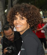 Halle Berry new curly hairdo