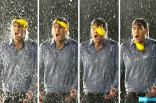 Jeff Lewis gets doused by a water balloon in the 2012 Summer by Bravo commercial