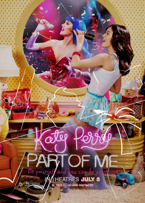 Katy Perry Part of Me movie poster with assembled puzzle pieces