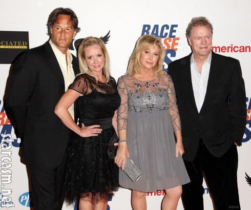 Kim Richards with new boyfriend and sister Kathy HIlton and Richard hilton