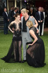 Kristen Stewart Chris Hemsworth Charlize Theron Snow White and the Huntsman Premiere