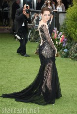 Rear view of Kristen Stewart at the Snow White and the Huntsman World Premiere