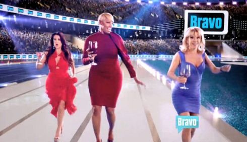 2012 Summer By Bravo commercial Kyle Richards NeNe Leakes Ramona Singer race with drinks