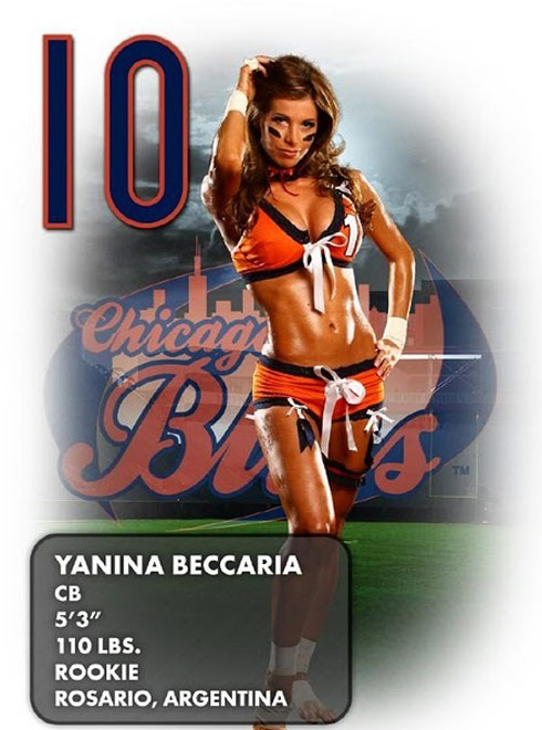 Yanina Beccaria lingerie football league