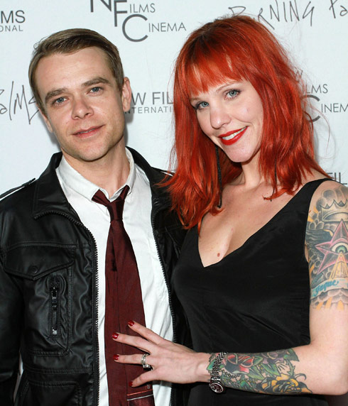 Nick Stahl with his wife Rose