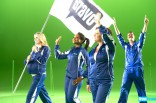 Caroline Manzo Phaedra Parks and others march in the 2012 Summer by Bravo commercial