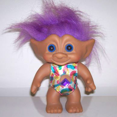 troll doll with purple hair like Kelly Osbourne