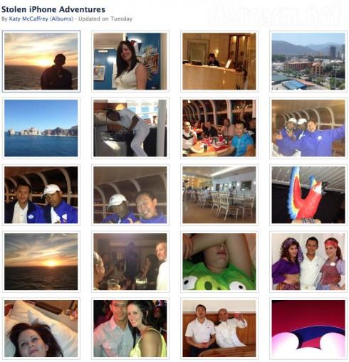 Katy McCaffrey's Stolen iPhone Adventure Facebook album photos