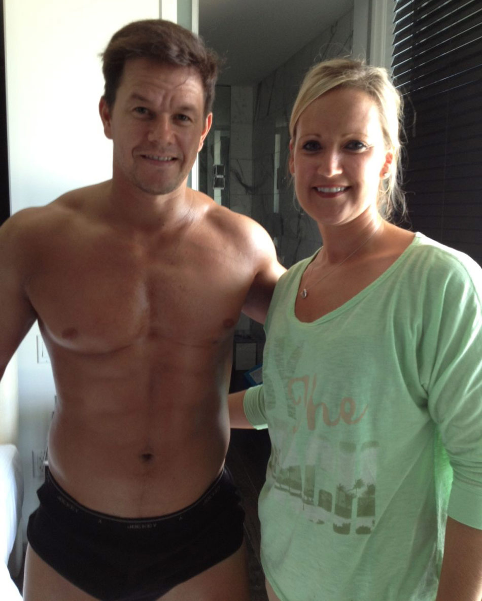 Tennille Cardinal goes GTL with Mark Wahlberg