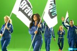 Teresa Giudice and others march in the 2012 Summer by Bravo commercial
