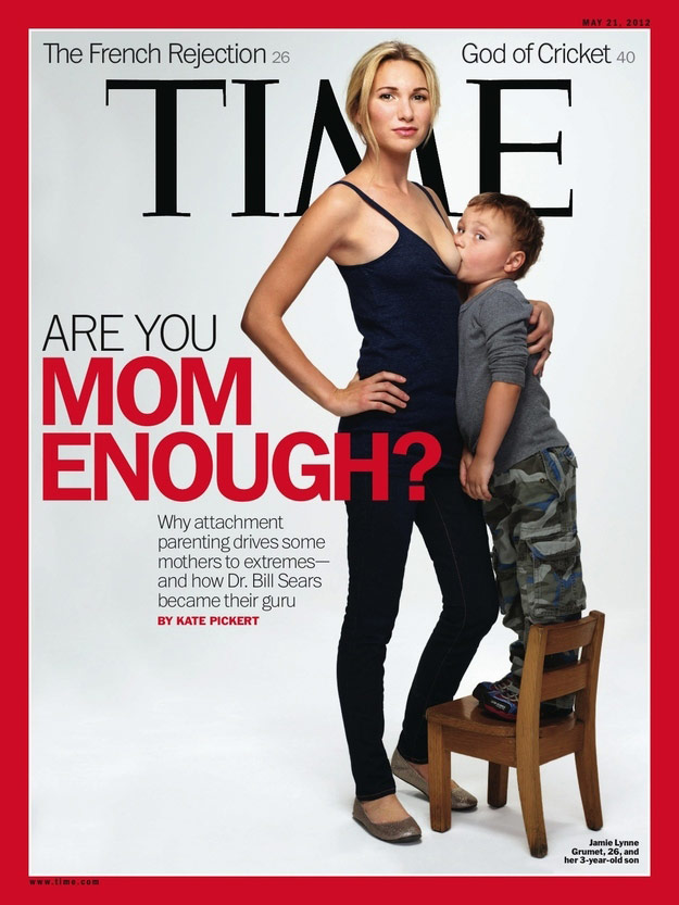 Cover of Time Magazine featuring a breastfeeding 3-year-old son