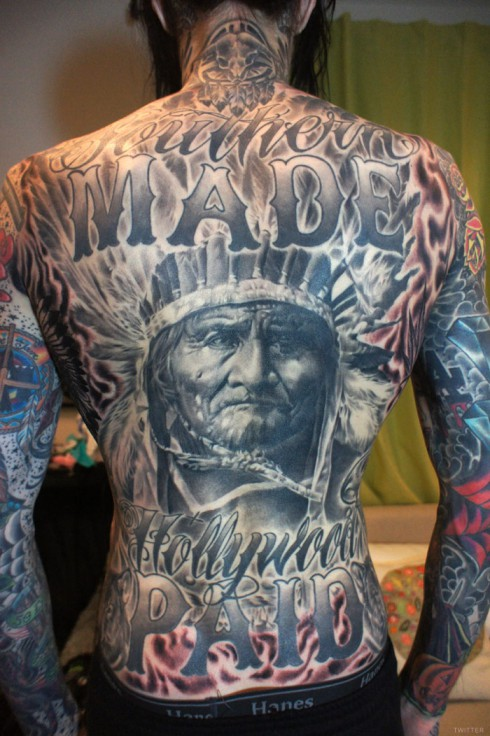 Trace Cyrus back Tattoos photo