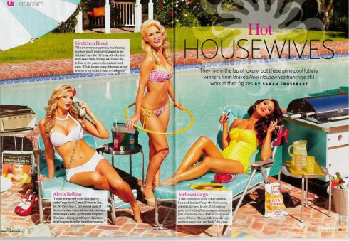 Us Weekly Hot Bodies Real Housewives bikini photo with Alexis Bellino, Grethcen Rossi, and Melissa Gorga