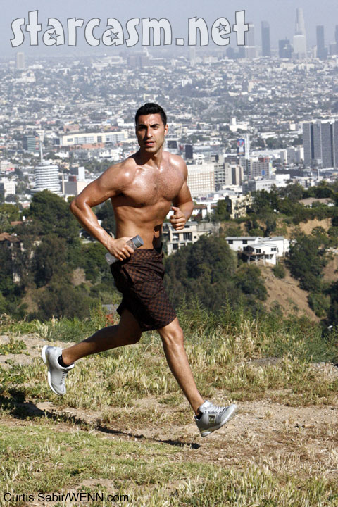 Mr. Arab abs runinng Canyon