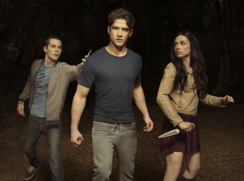 Teen Wolf's Dylan O'Brien as Stiles Stilinski, Tyler Posey as Scott McCall, and Crystal Reed as Allison Argent