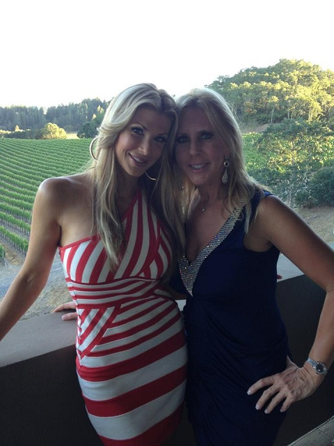 Alexis Bellino and Vicki Gunvalson