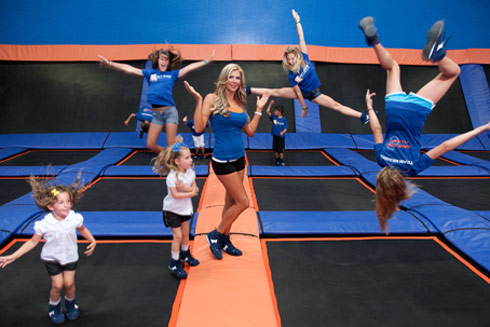 Alexis Bellino and husband Jim Bellino open a trampoline park in Anaheim California