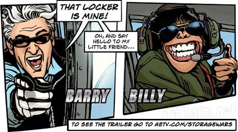 Barry Weiss Storage Wars comic book with his lil friend Billy the monkey