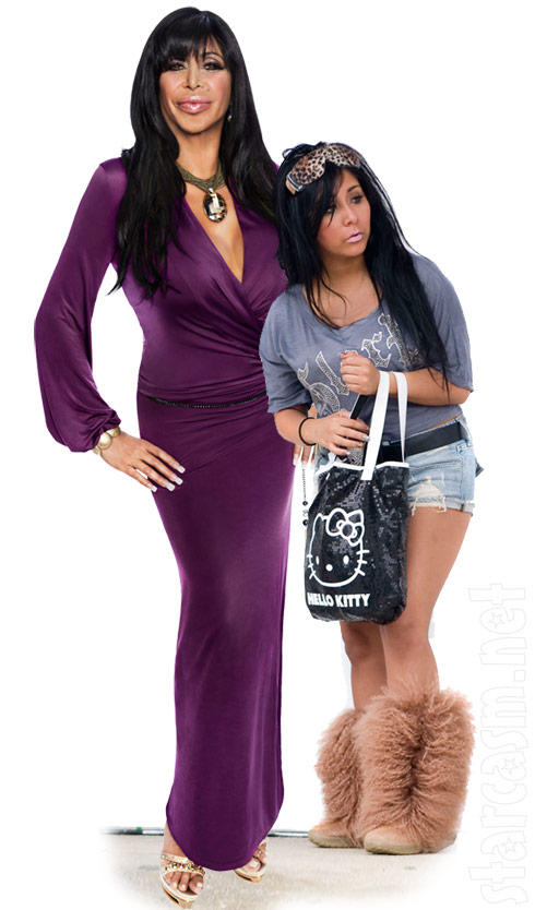 Snooki and Big Ang from Mob Wives