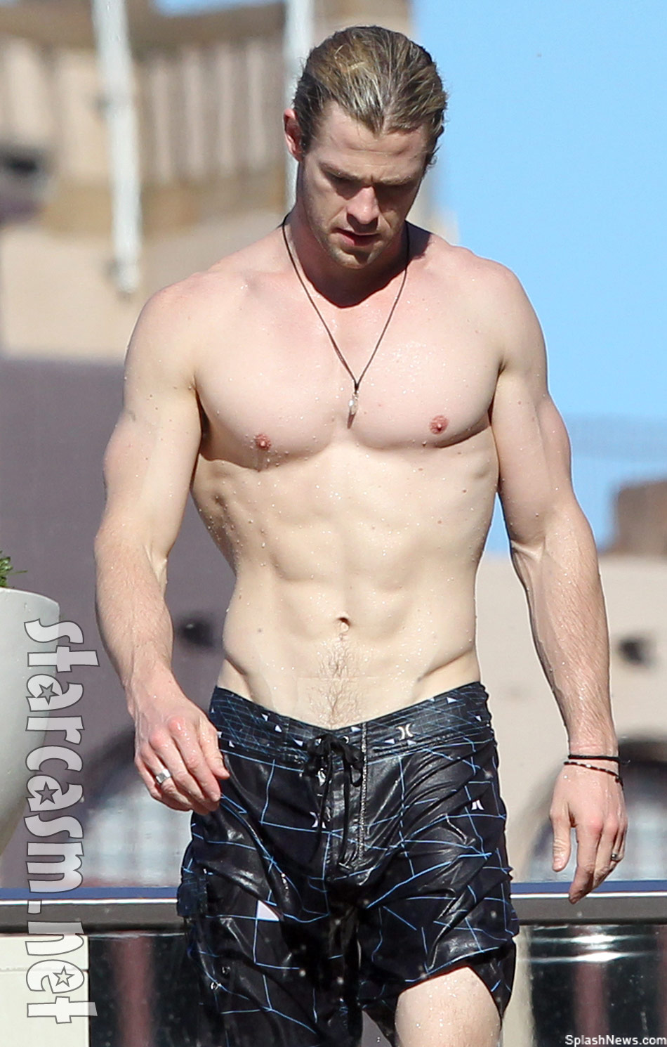 Chris Hemsworth as the real life Thor shirtless Down Under