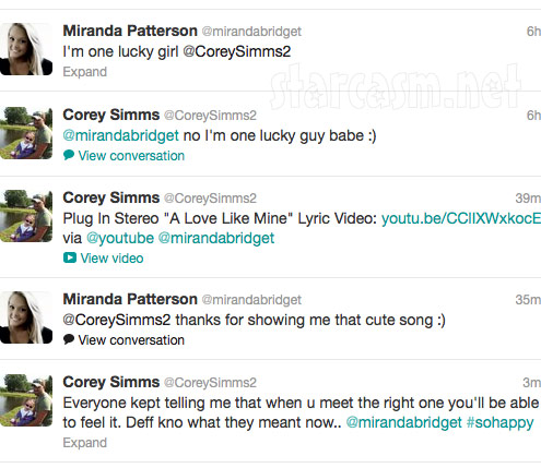 Corey Simms tweets about his first date with new girlfriend Miranda Patterson 2 of 2