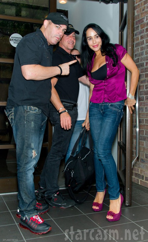 Celebrity fight promoter Damon Feldman with Michael Lohan and Nadya Suleman