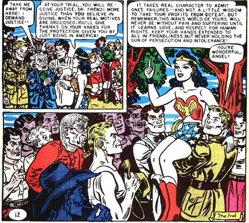David Arquette's Wonder Woman tattoo is taken from Sensation Comics 81 When Treachery Wore a Green Shirt