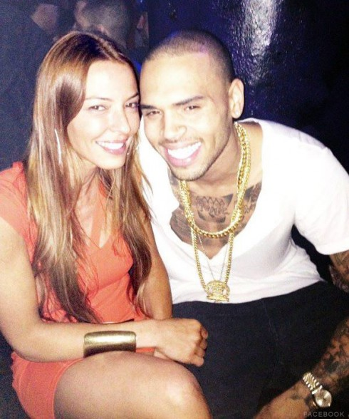 Mob Wives Drita D&#039;Avanzo and Chris Brown together