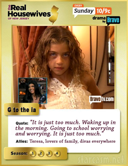 G to the ia Real Housewives of New Jersey trading card
