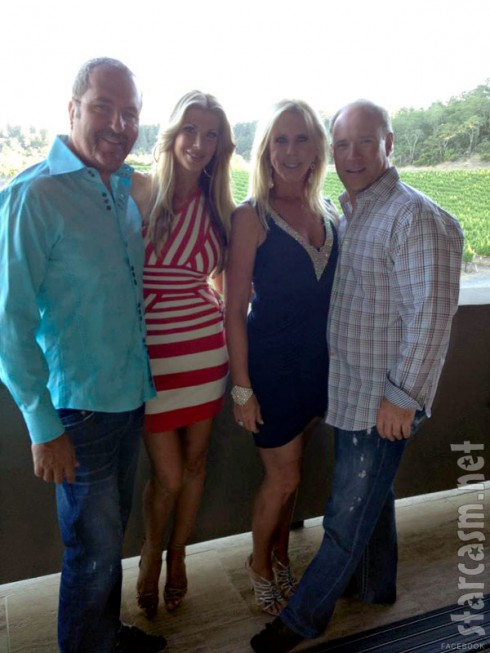 Jim Bellino Alexis Bellino Vicki Gunvalson and Brooks Ayers celebrating Jim's 50th birthday