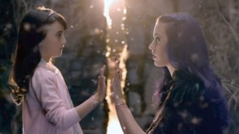 Katy Perry meets her younger self in the Wide Awake music video