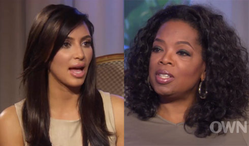 Kim Kardashian interviewed by Oprah Winfrey