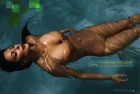 Kim Kardashian in a swimming pool for Esquire Latin America