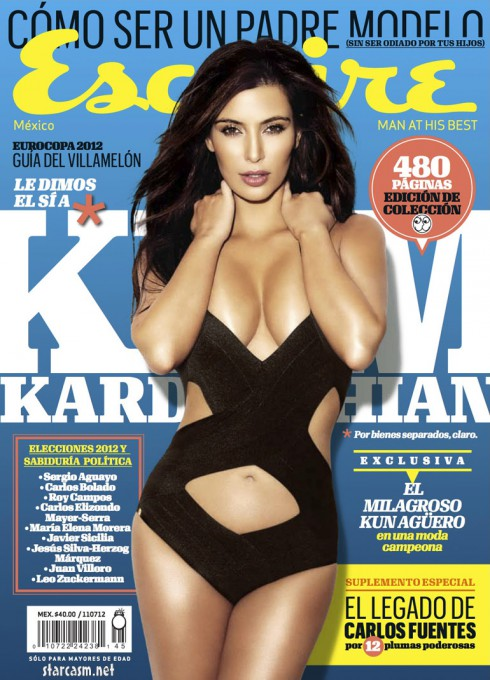 Kim Kardashian on the cover of June 2012 issue of Esquire Latin America high resolution
