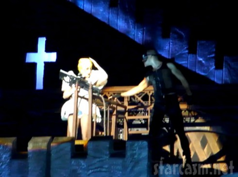 Lady Gaga hit in the head by a pole receives concussion performing Judas in Aukland