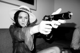 Lindsay Lohan shooting a gun for Terry Richardson