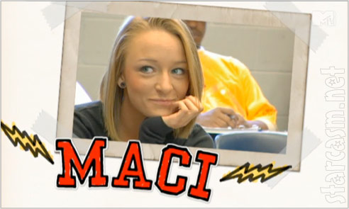 Teen Mom Maci Bookout scrapbook photo