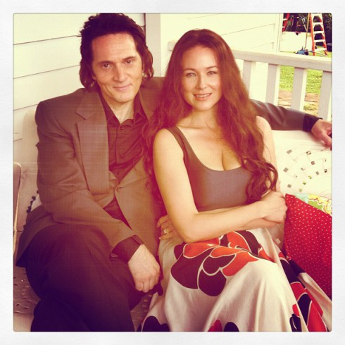Jewel as June Carter Cash and Matt Ross as Johnny Cash in Ring of Fire Lifetime movie